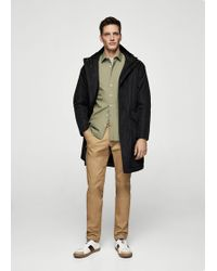 Mango - Quilted Nylon Parka - Lyst