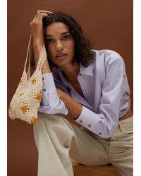 Mango Floral Crochet Bag - Multicolour