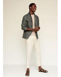 Mango 100% Linen Saharan Jacket - Multicolor