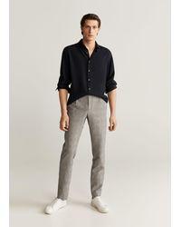 Mango Lyocell Regular-fit Overhemd - Zwart