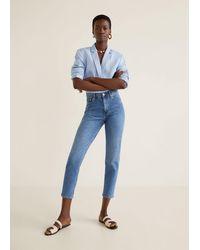 Mango - Mom Slim Jeans Medium Blue - Lyst
