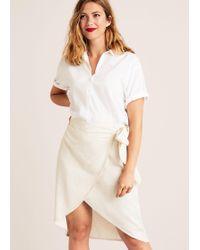 Violeta by Mango - Linen-blend Wrap Skirt - Lyst