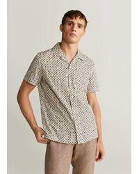 Mango Regular-fit Overhemd Met Geometrische Print - Meerkleurig