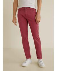 Mango - Slim-fit 5 Pocket Cotton Trousers - Lyst