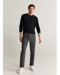 Mango - Slim-fit Linen Pants Charcoal - Lyst