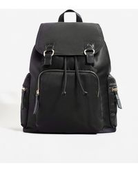 Mango - Satined Backpack - Lyst