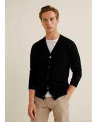 Mango - Buttoned Wool Cardigan - Lyst
