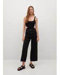 Mango Bodysuit With Side Slits - Black