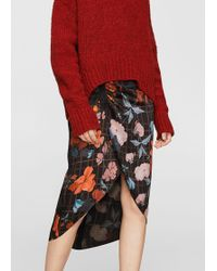 Mango - Mixed Print Skirt - Lyst