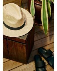 Mango Straw Fedora Hat - Natural