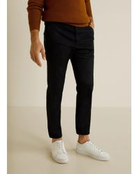 Mango - Slim-fit Cropped Trousers - Lyst