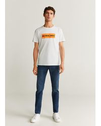 Mango Warner Bros Printed Cotton-blend T-shirt White