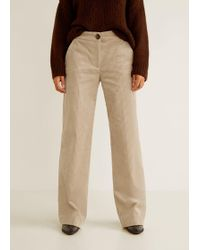 Mango - Corduroy Straight Trousers - Lyst