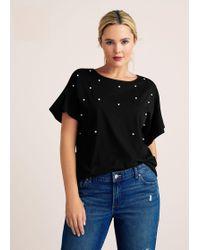 Violeta by Mango - Pearls T-shirt - Lyst