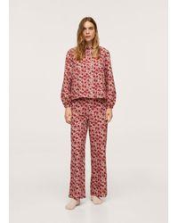 Mango Camicia pigiama cotone - Rosso