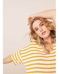 Violeta by Mango - Striped Jersey T-shirt - Lyst