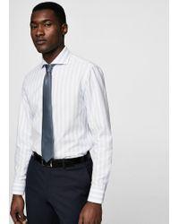 Mango - Slim-fit Tailored Striped Shirt - Lyst