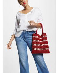 Violeta by Mango Beads Bucket Bag - Red