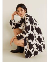 Mango - Cow Print Jacket - Lyst