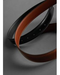 Mango Leather Belt Brown