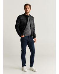 Mango - Faux-leather Biker Jacket Black - Lyst