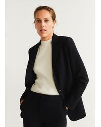 Mango Suit Blazer - Black