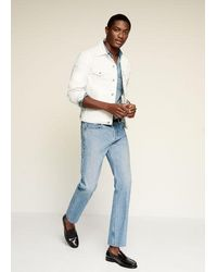 Mango - Weiße jeansjacke - Lyst