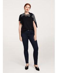 Violeta by Mango - Elastic Cotton T-shirt - Lyst