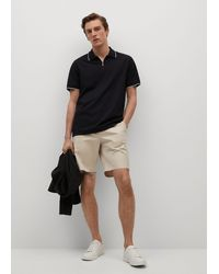 Mango - Technical Zip-up Knitted Polo Shirt - Lyst