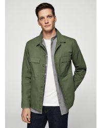 Mango - Pocketed Cotton Jacket - Lyst