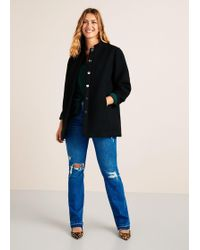 Violeta by Mango - Buttoned Wool Coat - Lyst
