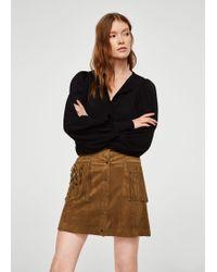 Mango | Pocket Fringed Skirt | Lyst