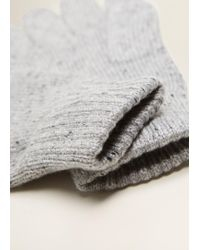 Mango - Flecked Gloves - Lyst