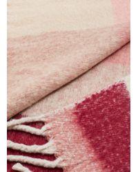 Violeta by Mango Bicolor Check Scarf - Pink