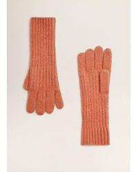 Mango - Ribbed Knit Gloves - Lyst