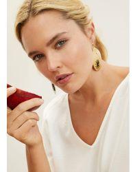 Violeta by Mango - Metal Pendants Earrings - Lyst