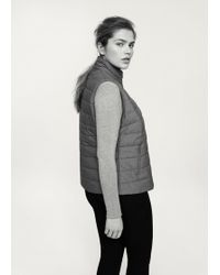 Violeta by Mango - Quilted Gilet - Lyst