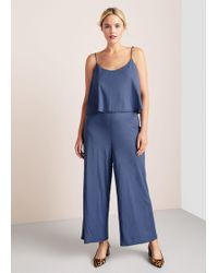 Violeta by Mango - Flowy Long Jumpsuit - Lyst