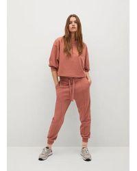 Mango Pantalon jogging coton durable - Orange