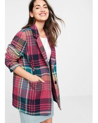 Violeta by Mango - Textured Wool-blend Coat - Lyst