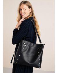 Violeta by Mango - Stud Shopper Bag - Lyst
