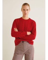 Mango - Cable-knit Sweater - Lyst