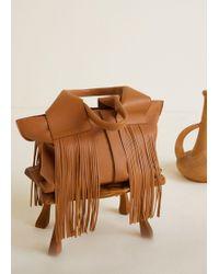Mango - Fringe Leather Bag - Lyst