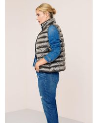 Violeta by Mango - Pocketed Quilted Gilet - Lyst