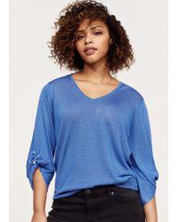 Violeta by Mango - Piercing Detail Sweater - Lyst