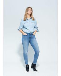 Violeta by Mango Jeans Bi-stretch Push-up Irene - Blue