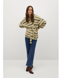 Mango Oversize Striped Cardigan - Multicolour