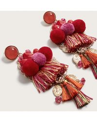 Violeta by Mango | Tassel Metallic Earrings | Lyst
