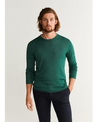 Mango - Silk Cotton-blend Sweater - Lyst