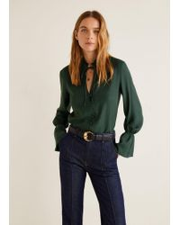 Mango - Flared Sleeve Blouse - Lyst